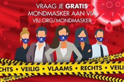 Vlaams Belang Jongeren geven gratis mondmaskers weg