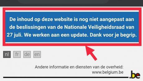 """Overheidswebsite over corona nog altijd niet up-to-date: """"Stop aanhoudend communicatiegeknoei"""""""