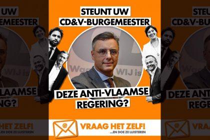 "Vlaams Belang spreekt CD&V-burgemeesters rechtstreeks aan in campagne tegen ""anti-Vlaamse Vivaldicoalitie"""