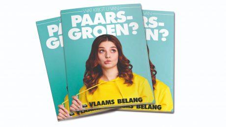 Foto: Vlaams Belang. Vlaams Belang verdeelt miljoen pamfletten tegen paars-groen