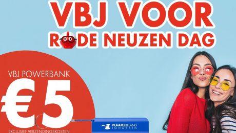 Vlaams Belang Jongeren verkopen 'power banks' voor Rode Neuzen Dag