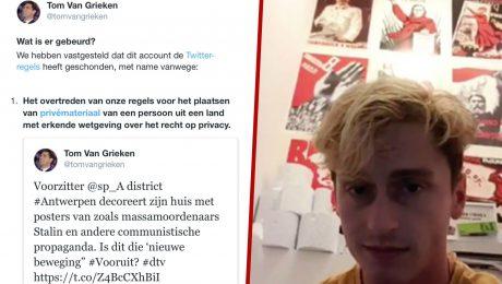 """Twitteraccount Tom Van Grieken vergrendeld: """"Aanslag op vrije woord door Amerikaanse multinationals"""""""