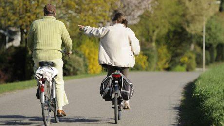 Paars-groen fietsplan blinkt uit in vaagheid